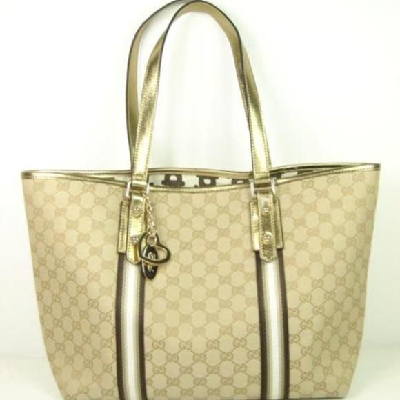 d9517d9ea08c Gucci Bags | Monogram Canvas Leather Small Jolicoeur Tote | Poshmark